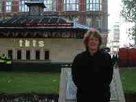 Reader Kathy Sutter by TKTS Booth, Leicester Square